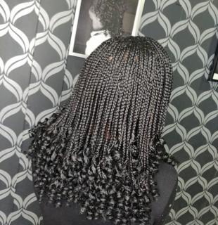 """Shoulder length braids with curls """"Waterloo Curls"""""""
